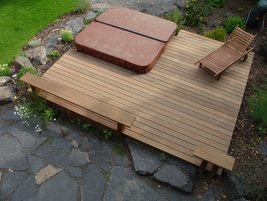 Golden Balau Decking is extremely durable