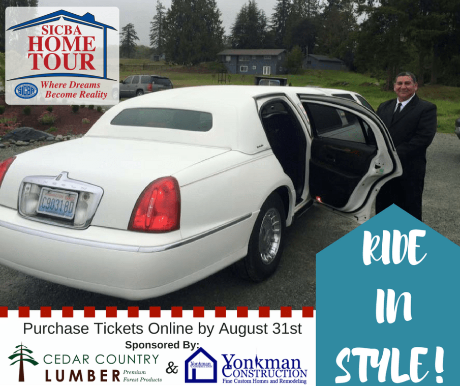SICBA Home Tour Limo Ride Sponsored by Cedar Country Lumber