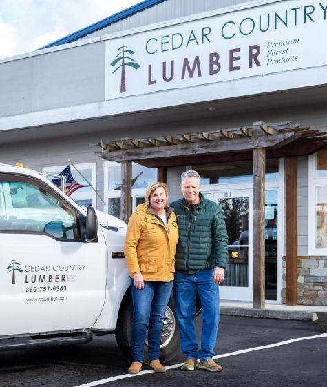 Cedar Country Lumber owners Tom Kelly and Kym Kelly