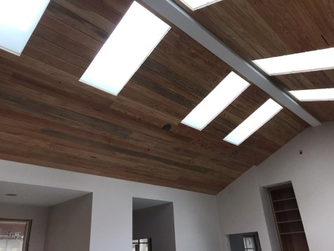 Douglas Fir T&G used as ceiling detail