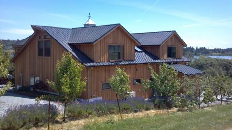 Knotty Western Red Cedar Board and Batten Siding