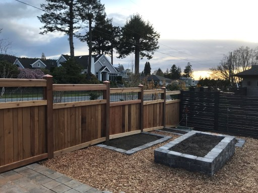 Examples of Western Red Cedar fences