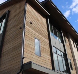 Using high heat, Hemlock is thermally modified to last longer