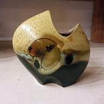 """Loren Lukens 8"""" Oblique Vase in Rust"""