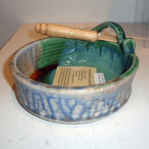 Earth Tones Pottery's Brie Baker in Green