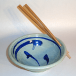 Dave Eitel's Stir Fry Bowl with Chopsticks in Celadon/Cobalt