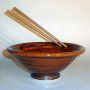 Dave Eitel's Stir Fry Bowl with Chopsticks in Gingerbread