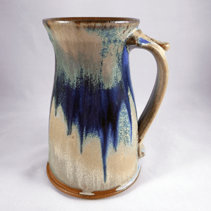 Large Stein Tan Blue
