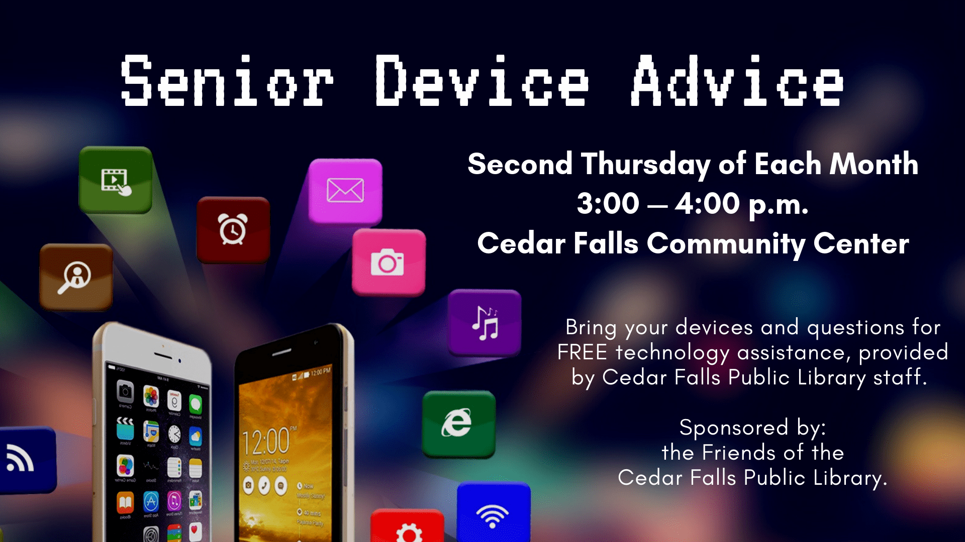 Device Advice Second Thursday Every Month Graphic