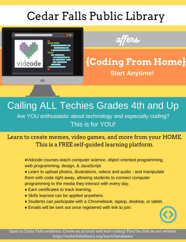 Flyer about Vidcode Club
