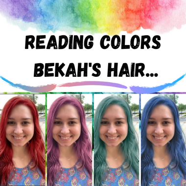 Bekah with different colored hair.