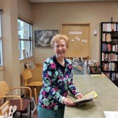 Board Member Mary Bozik in the Book Nook