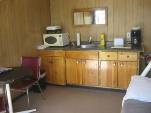 Cozy Camper cottage kitchen area