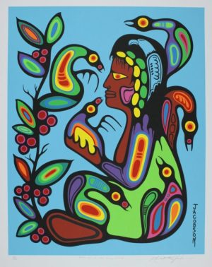 Blessings Of The Inner Child, Mark Anthony Jacobson, Native Art, Limited Edition Screen Print, Serigraph
