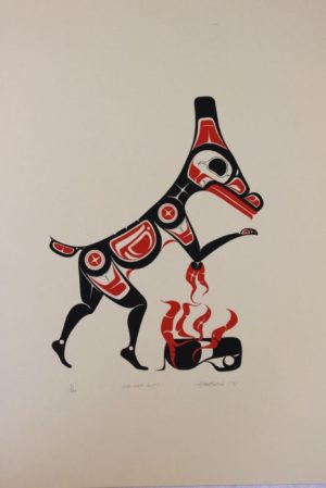 Moo-Uch-Mit (Deer And Fire), Art Thompson, Native Art Print, Indigenous Art, Northwest Coast Art, First Nations Art, Native American Art