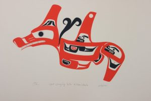 Wolf Changing Into Killer Whale, Art Thompson, Native Art Print, Indigenous Art, Northwest Coast Art, First Nations Art, Native American Art