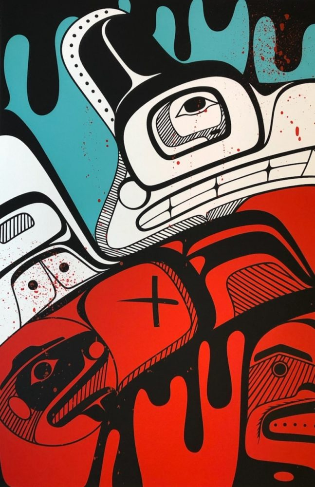 Outside Looking In, KC Hall, Street Art, Graffiti, Native Art, Aboriginal, Indigenous, Northwest Coast, First Nations, Native American