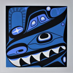 Haida Killer Whale, Lyle Campbell, Native Art, Limited Edition Screen Print, Serigraph