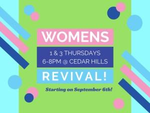 Announce Build - Womens Revival