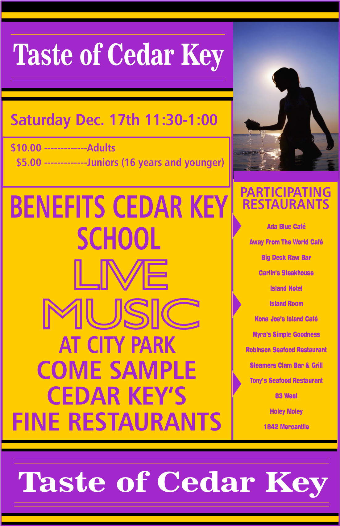 DEC 5 taste of cedar key flyer