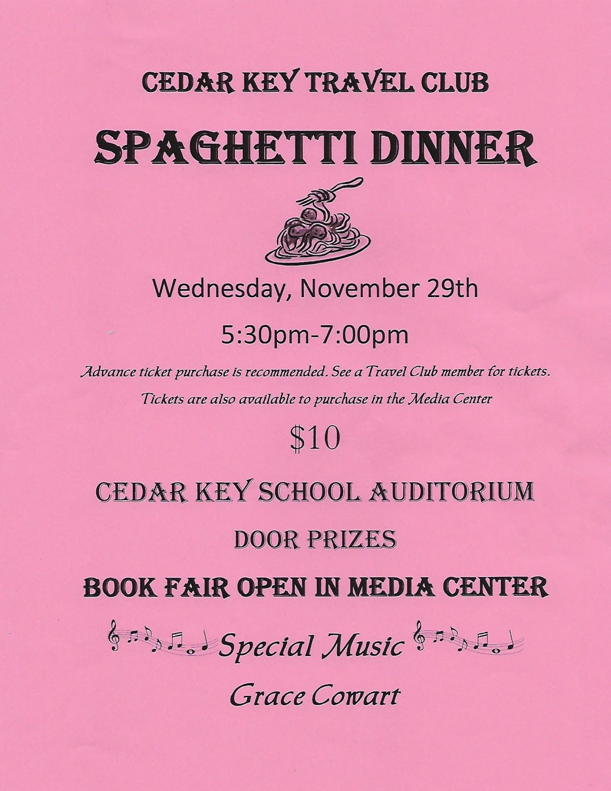 NOV 25 CKS Spaghetti Dinner flyer