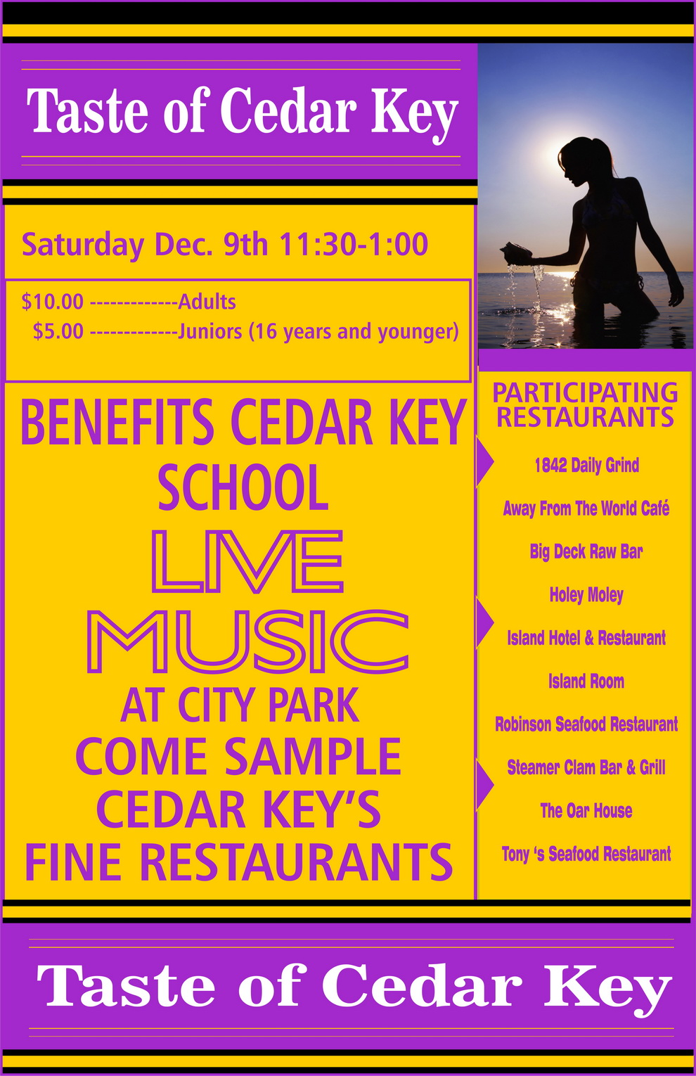 DEC R COC taste of cedar key flyer