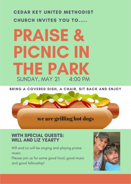 MAY 17 UMCW Picnic in the Park