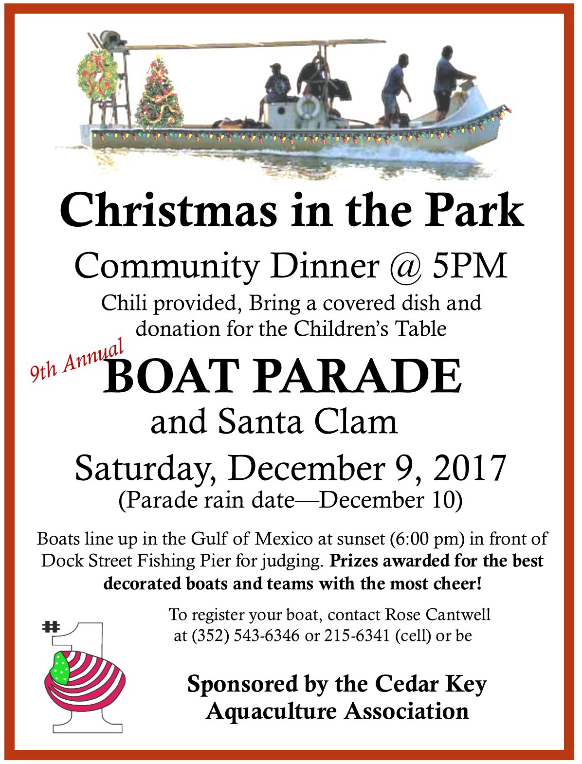 NOV 26 DEC 9 ANNMT Christmas Boat Parade Flyer 2017