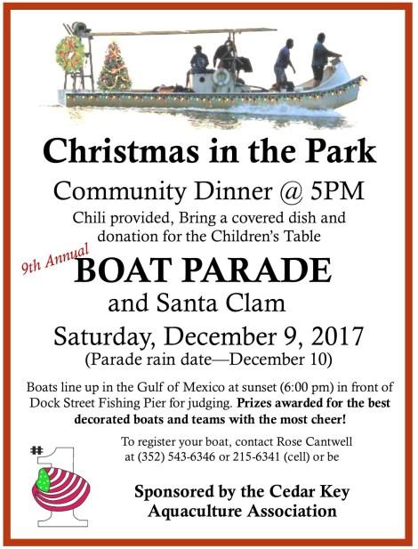 NOV 26 DEC 9 ANNMT Christmas Boat Parade Flyer 2017