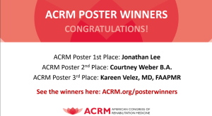 ACRM Poster Winners announcement