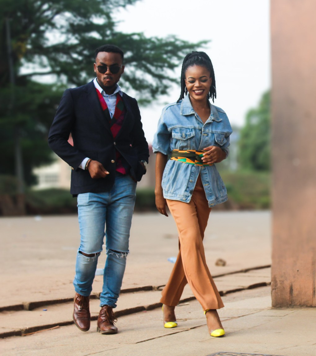 how to wear denim and african print, fashionistas