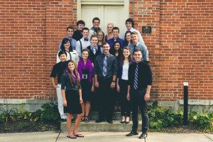The Inversions perform a cappella music every semester at the Opera House. Pictured above are the 2013-2014 members. (Photo provided by The Inversions)