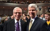 Pastor Bob Rohm and former Cedarville President Bill Brown served together for 10 years,