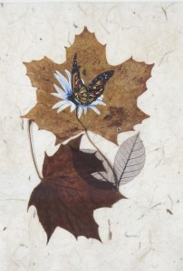Cooley Turner was inspired by his granddaughter to paint on leaves.