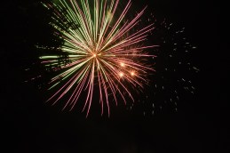 Sunday night fireworks were shot off at a park in downtown Cedarville to celebrate Labor Day. Cedarville students, residents and visitors watched the show.