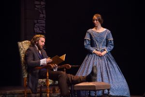 Sophomore Nathan Robertson said it is Jane's unwavering commitment to her morals that serves as his character's redemptive arc. Photo Credit: Jennifer Gammie