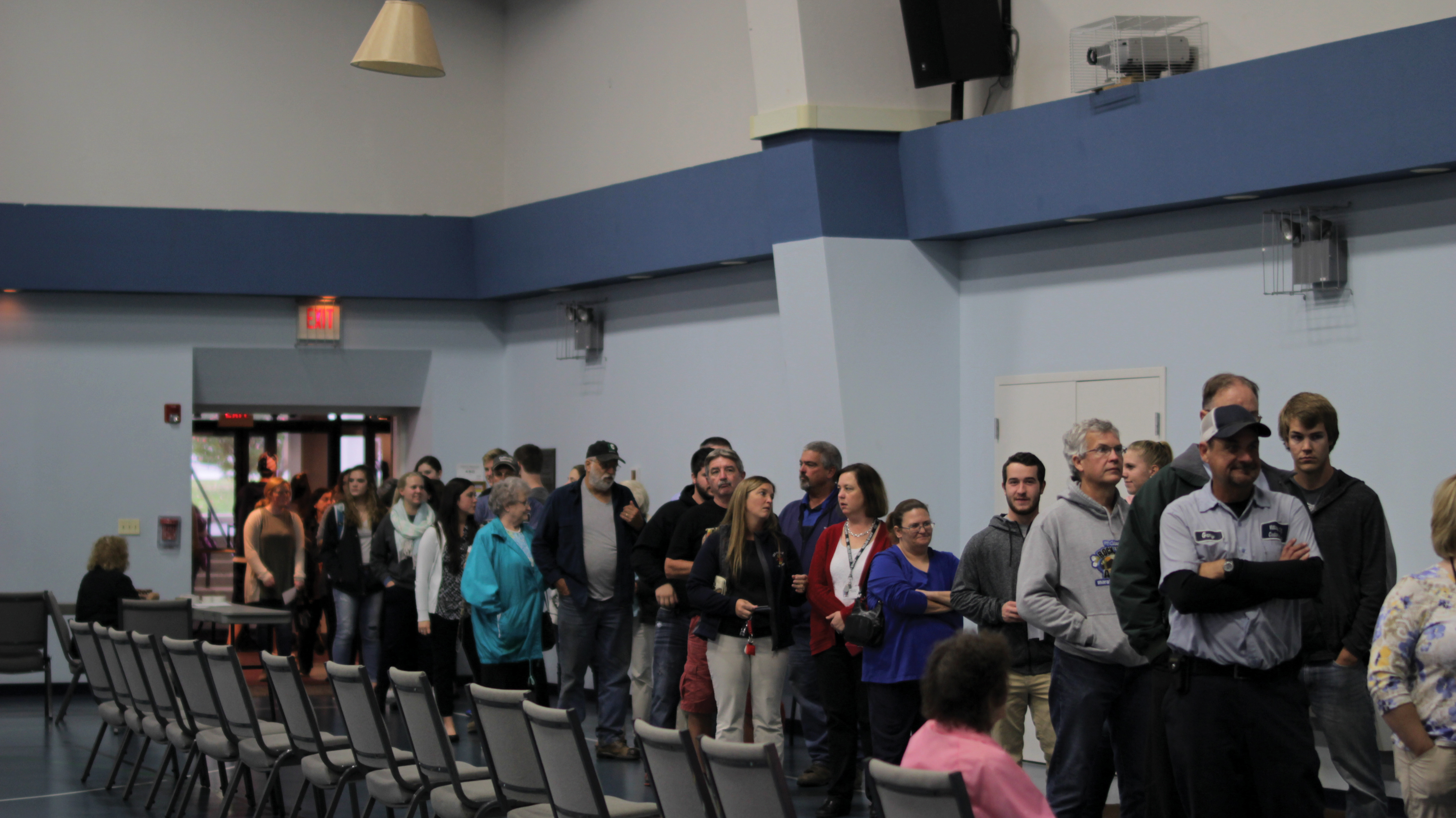 Grace Baptist Church in Cedarville held a polling place in their gym for Cedarville residents and students of the nearby universities to put in their votes.