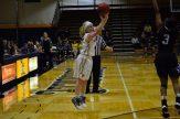 Baylee Bennett takes a wide-open three-pointer (Photo: Allyson Weislogel).