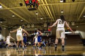 The Lady Jackets get set up for defense (Photo: Christian Cortes).