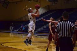 Kaitlyn Holm takes a jump shot (Photo: Allyson Weislogel).