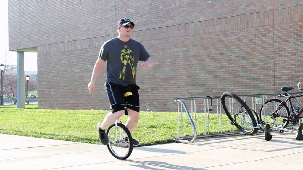 One Wheel Enough for Cedarville Unicycle Gang