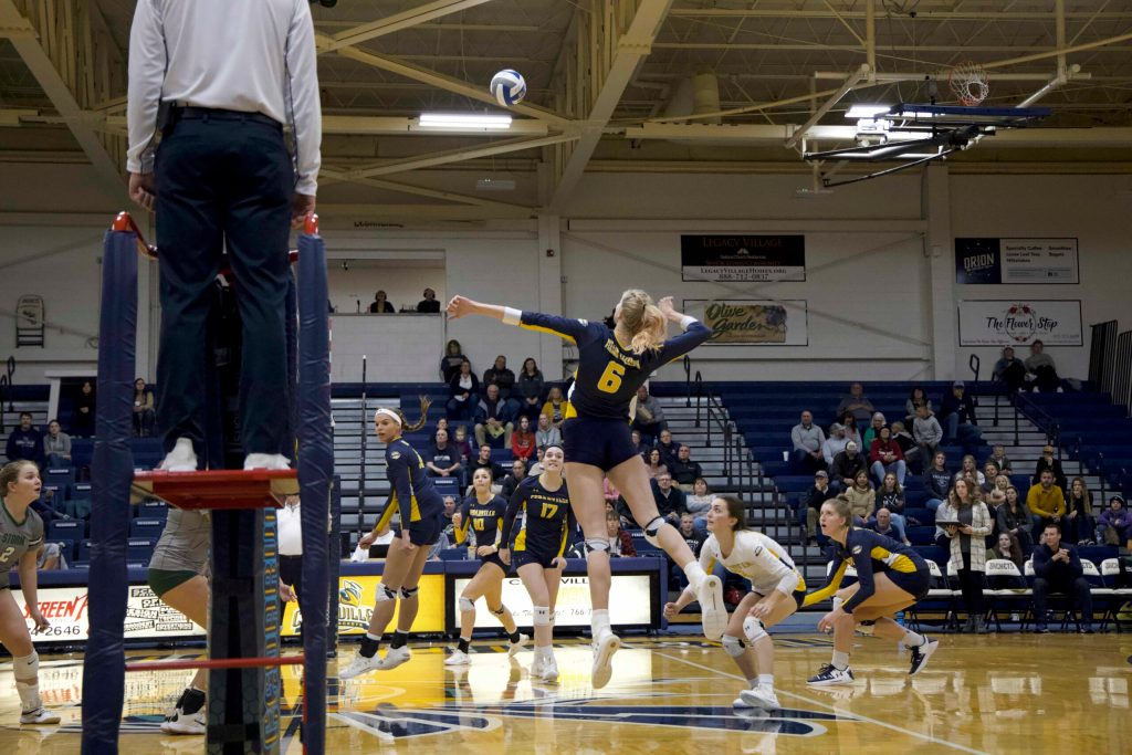 Cedarville Volleyball Rolls to Victory Over Lake Erie