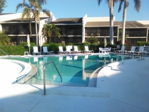 Pool looking east