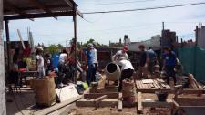 Construyendo la platea (fundación)