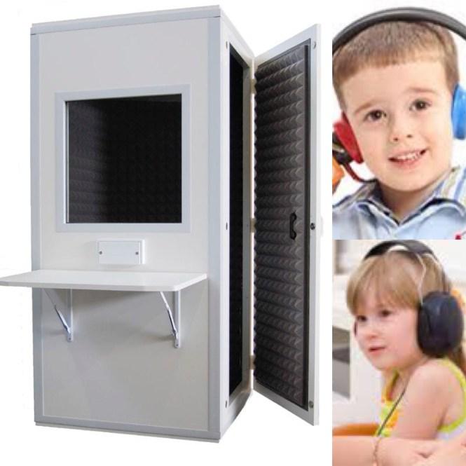 Cabina de audiometria pediatrica