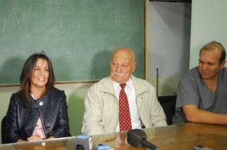 Liana Montero (miembro comision CEDA), Rodolfo Roggero (Presidente Cooperadora del Hospital) y Esteban Vianello (Director del Hospital)