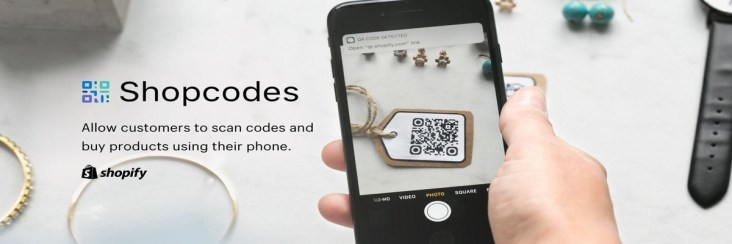 Shopify, QR Codes, Shopcodes, Shopify shopcodes, mobile shopping, intuitive shopping, mobile shopping, mobile apps,