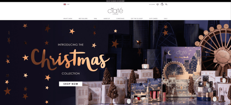 christmas theme for website