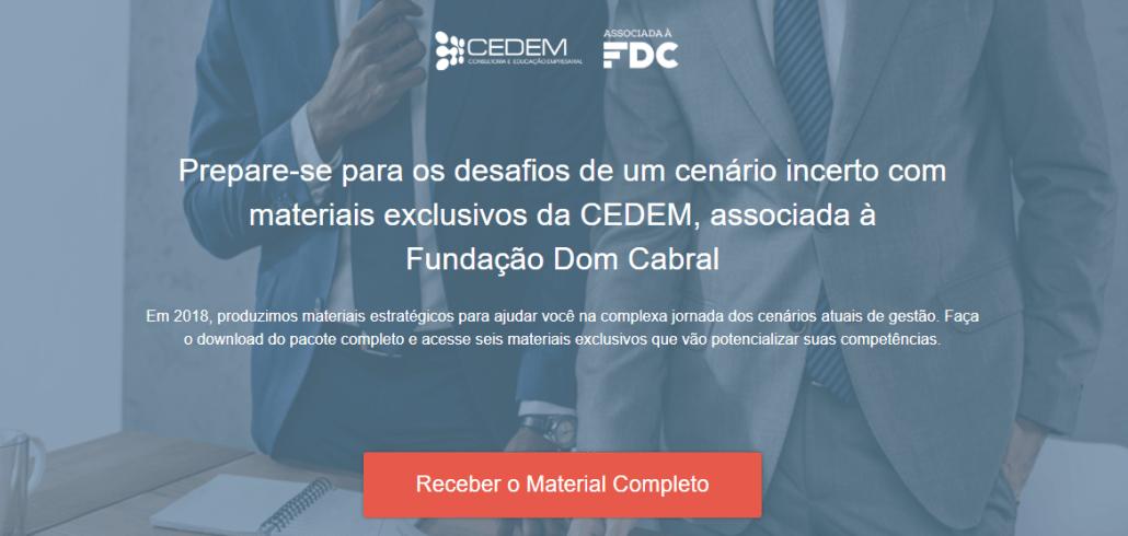 Prepare-se para os desafios de 2019 com materiais exclusivos da CEDEM.