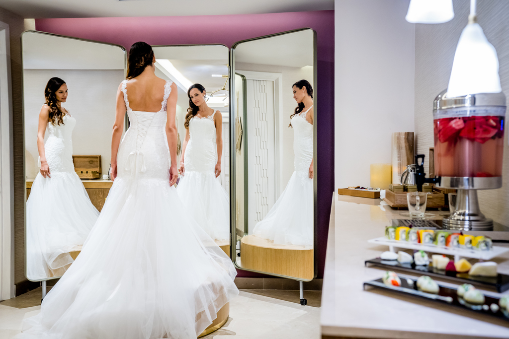 Hyatt-Zilara-Cancun-Zen-Spa-Bridal-Room-Dress-3
